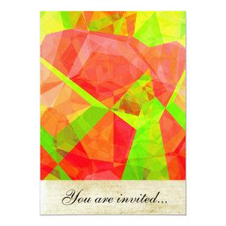Polígono abstratos 200 convite