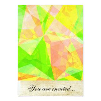 Polígono abstratos 201 convite 12.7 x 17.78cm