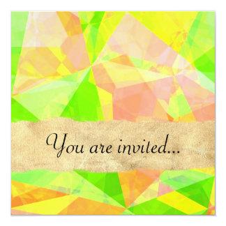 Polígono abstratos 201 convite