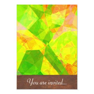 Polígono abstratos 202 convite 12.7 x 17.78cm