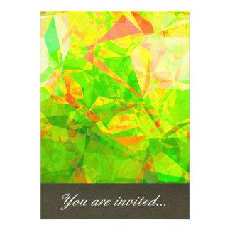 Polígono abstratos 206 convites personalizado