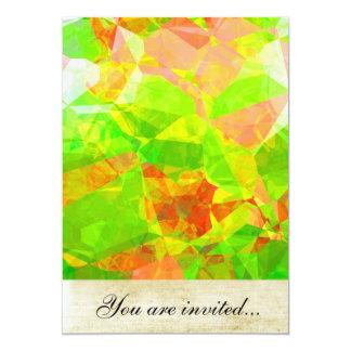 Polígono abstratos 208 convites