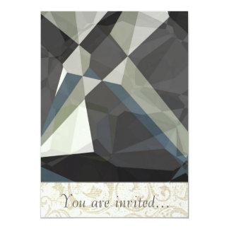 Polígono abstratos 210 convite personalizado