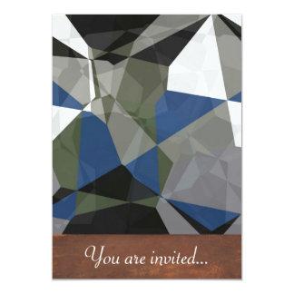 Polígono abstratos 211 convite 12.7 x 17.78cm