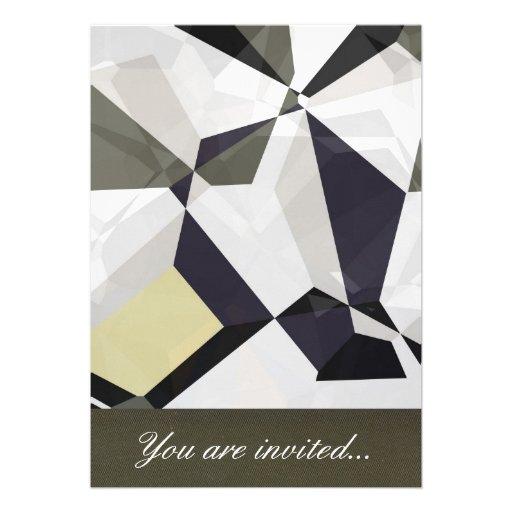 Polígono abstratos 213 convites personalizado