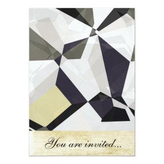 Polígono abstratos 213 convite personalizado