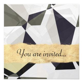 Polígono abstratos 213 convite personalizados