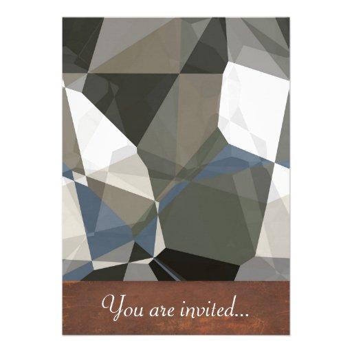 Polígono abstratos 214 convite