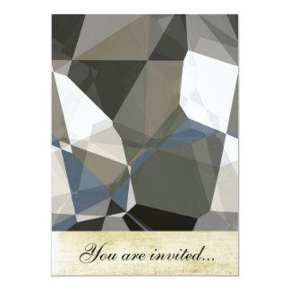 Polígono abstratos 214 convite 12.7 x 17.78cm