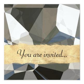 Polígono abstratos 214 convite quadrado 13.35 x 13.35cm