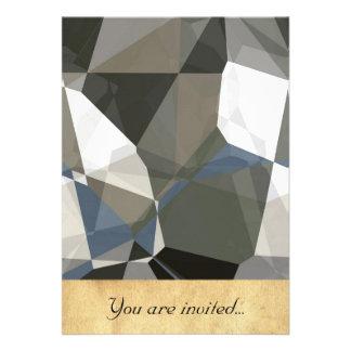 Polígono abstratos 214 convite personalizado