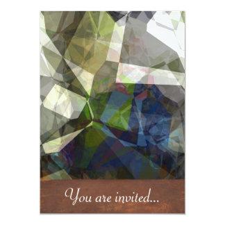 Polígono abstratos 215 convite 12.7 x 17.78cm