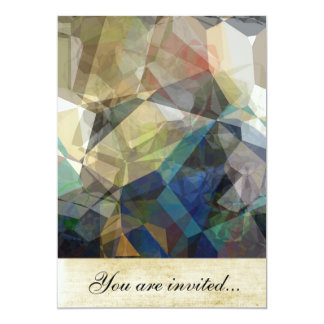 Polígono abstratos 217 convite 12.7 x 17.78cm