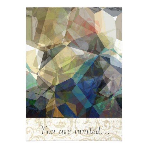 Polígono abstratos 217 convite personalizados