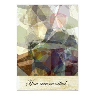 Polígono abstratos 218 convite
