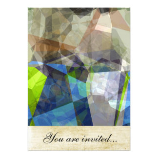 Polígono abstratos 219 convite personalizado