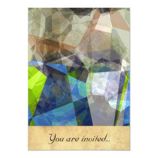 Polígono abstratos 219 convite 12.7 x 17.78cm