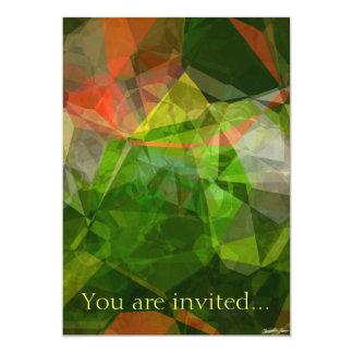 Polígono abstratos 21 convite 12.7 x 17.78cm