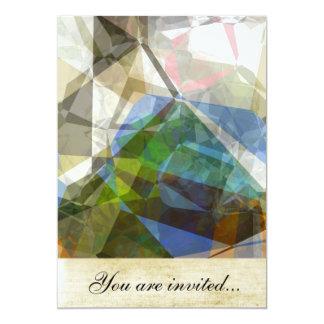 Polígono abstratos 221 convite 12.7 x 17.78cm