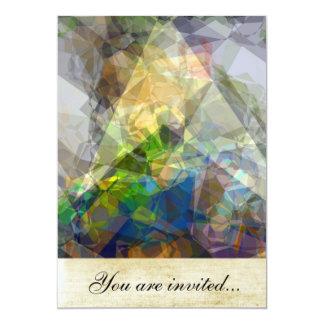 Polígono abstratos 222 convite personalizado