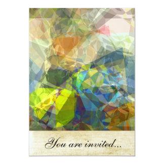 Polígono abstratos 224 convite 12.7 x 17.78cm