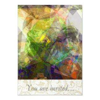 Polígono abstratos 226 convite personalizado
