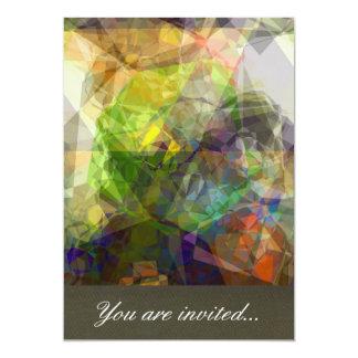 Polígono abstratos 226 convite 12.7 x 17.78cm