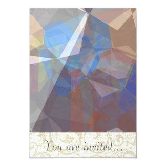 Polígono abstratos 227 convites personalizados