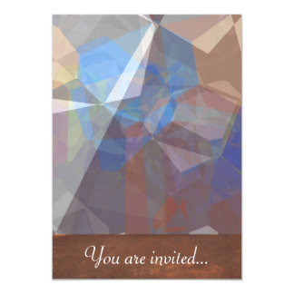 Polígono abstratos 227 convite 12.7 x 17.78cm