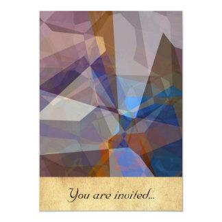 Polígono abstratos 229 convite 12.7 x 17.78cm