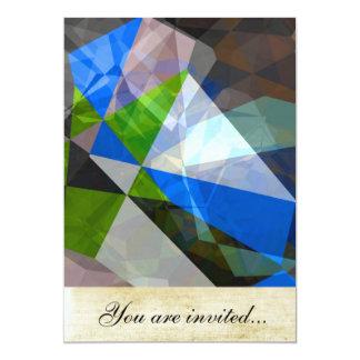 Polígono abstratos 230 convite 12.7 x 17.78cm
