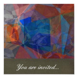 Polígono abstratos 231 convite quadrado 13.35 x 13.35cm