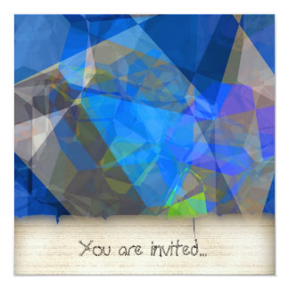 Polígono abstratos 233 convites personalizados