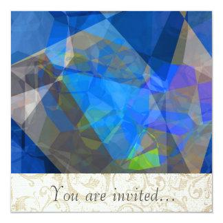 Polígono abstratos 233 convite personalizado