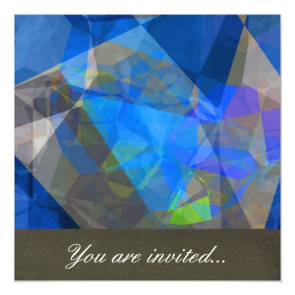 Polígono abstratos 233 convite quadrado 13.35 x 13.35cm