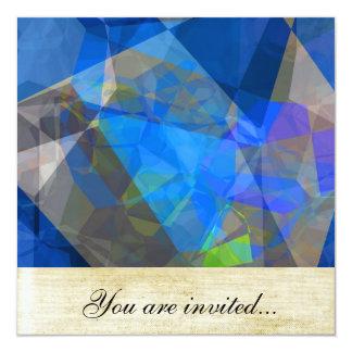 Polígono abstratos 233 convites personalizado