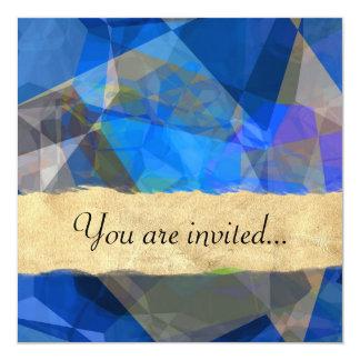 Polígono abstratos 233 convite personalizados