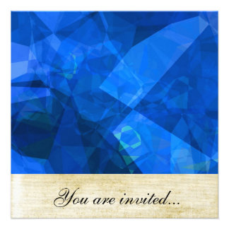 Polígono abstratos 234 convite personalizado