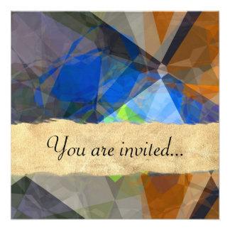 Polígono abstratos 235 convites