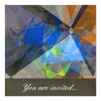 Polígono abstratos 235 convite quadrado 13.35 x 13.35cm
