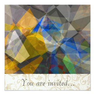 Polígono abstratos 236 convites personalizados