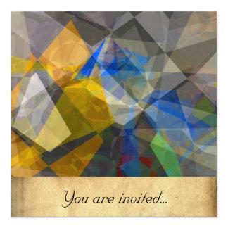 Polígono abstratos 236 convites personalizado