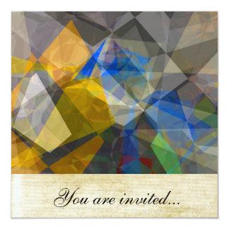 Polígono abstratos 236 convite quadrado 13.35 x 13.35cm