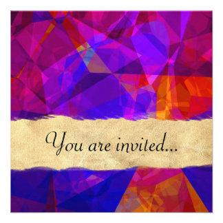 Polígono abstratos 237 convite