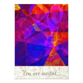 Polígono abstratos 237 convite 12.7 x 17.78cm