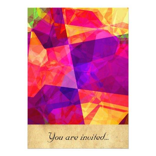 Polígono abstratos 238 convites personalizado
