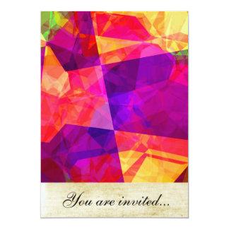 Polígono abstratos 238 convite 12.7 x 17.78cm