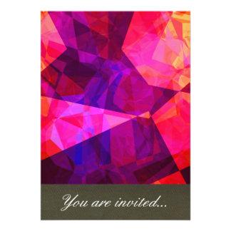 Polígono abstratos 239 convite personalizado