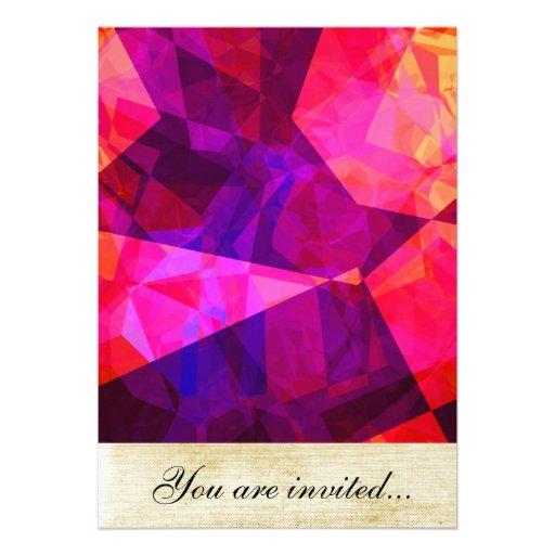 Polígono abstratos 239 convite personalizados
