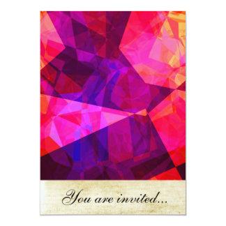 Polígono abstratos 239 convite 12.7 x 17.78cm